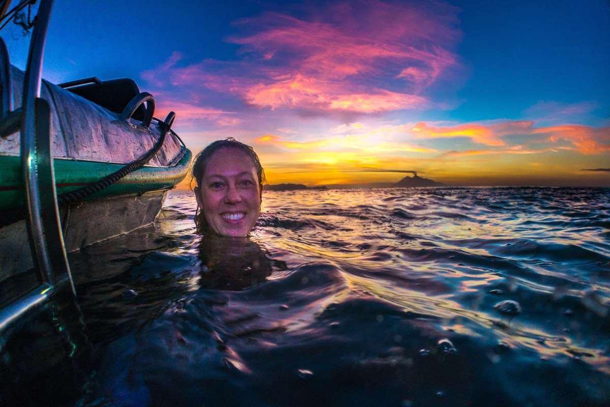 Megan Meyers in Komodo National Park