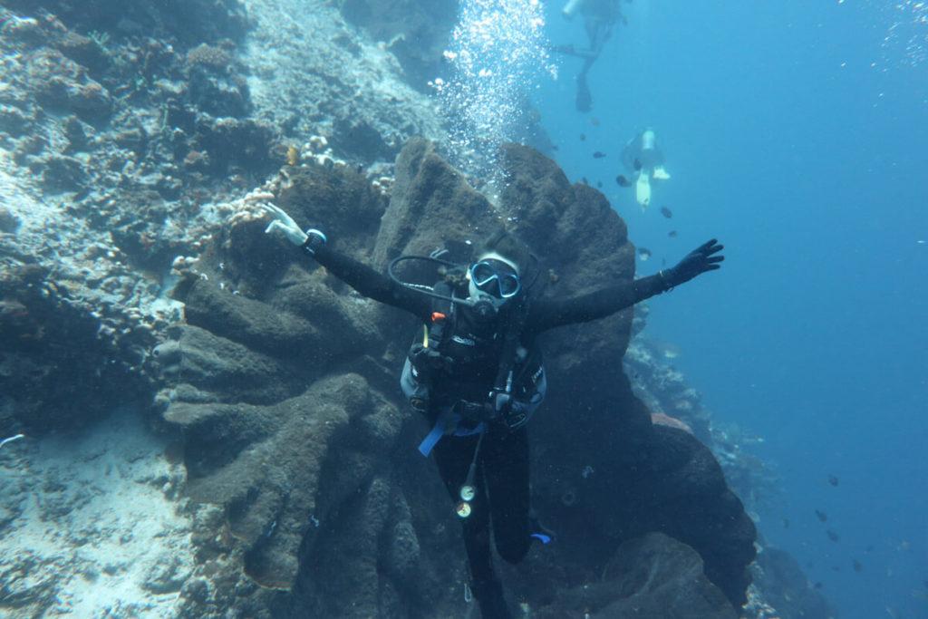 diving aboard Adelaar