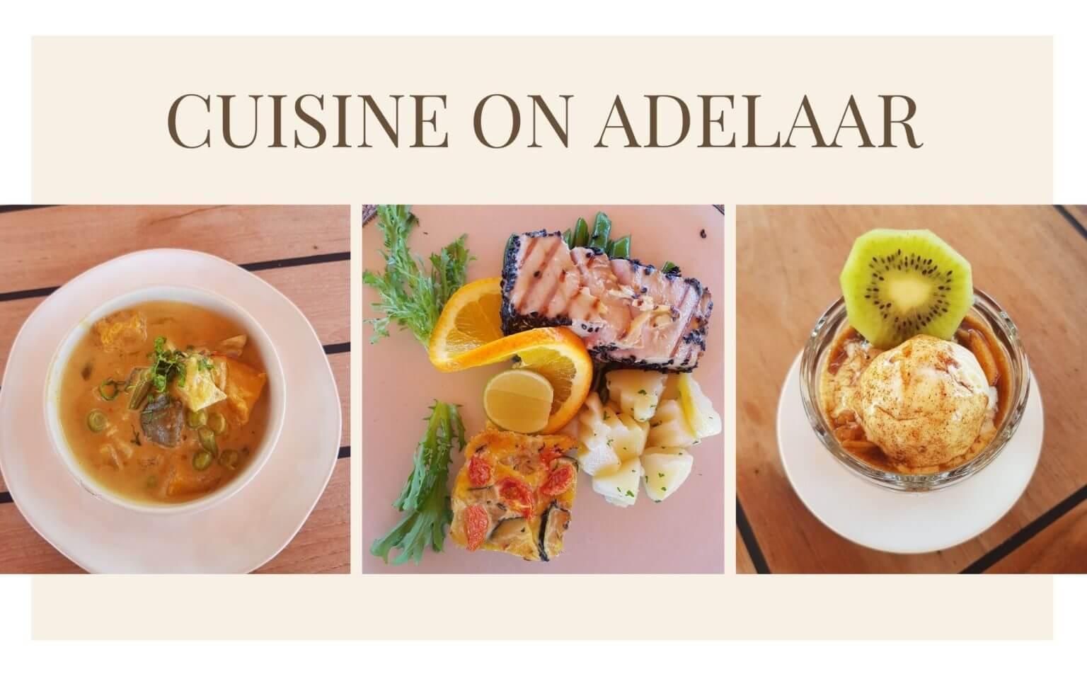 Liveaboard experience cuisine