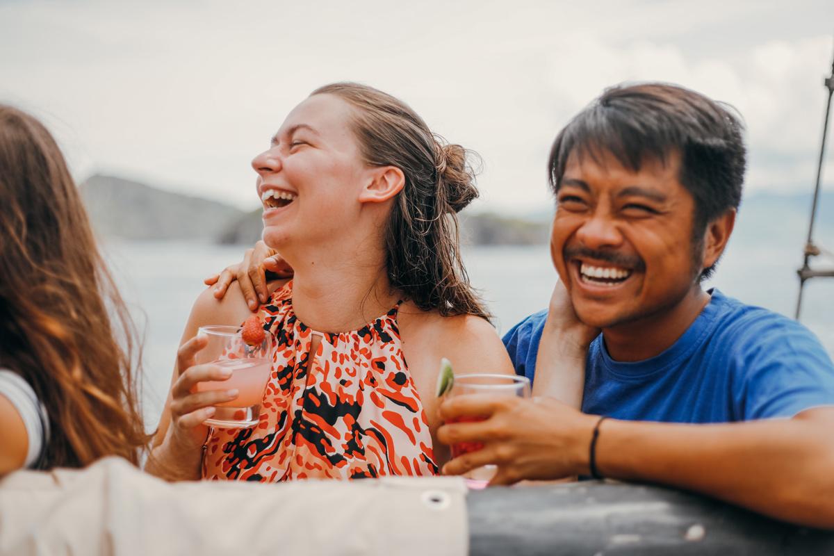 couple cruise Indonesia